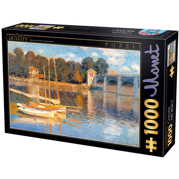 DToys puzzla 1000 pcs Claude Monet Bridge in Argenteuil 07/67548-03 - ODDO igračke