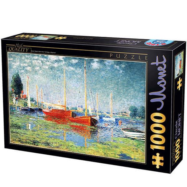 DToys puzzla 1000 pcs Claude Monet Red Boats at Argenteuil 07/67548-04 - ODDO igračke