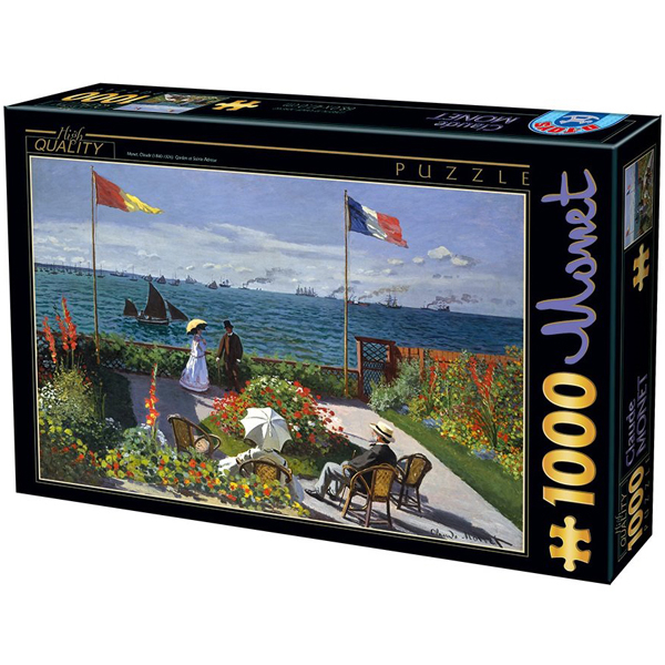 DToys puzzla 1000 pcs Claude Monet Garden in Sainte-Adresse 07/67548-07 - ODDO igračke