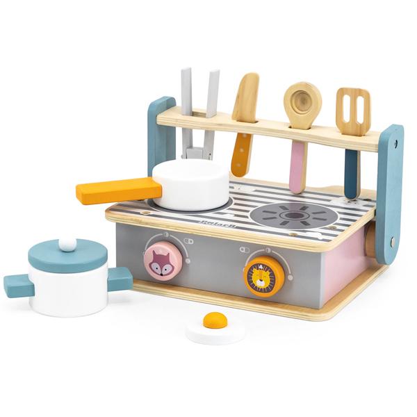 Drveni set rerna i roštilj Viga PB 44032-23374 - ODDO igračke