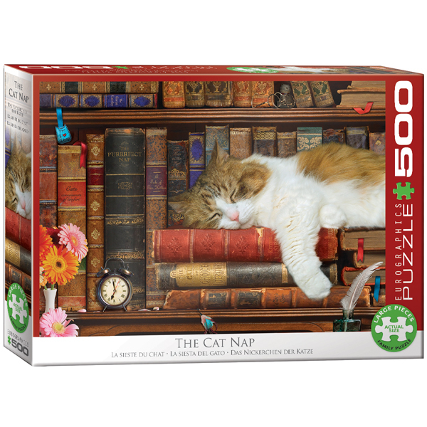 Eurographics The Cat Nap 500-Piece Puzzle 6500-5545 - ODDO igračke