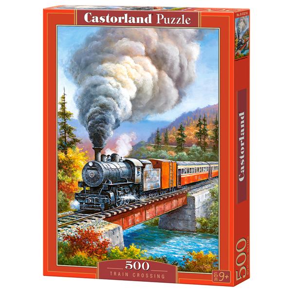 Castorland puzzla 500 Pcs Train Crossing Sung Kim 53216 - ODDO igračke