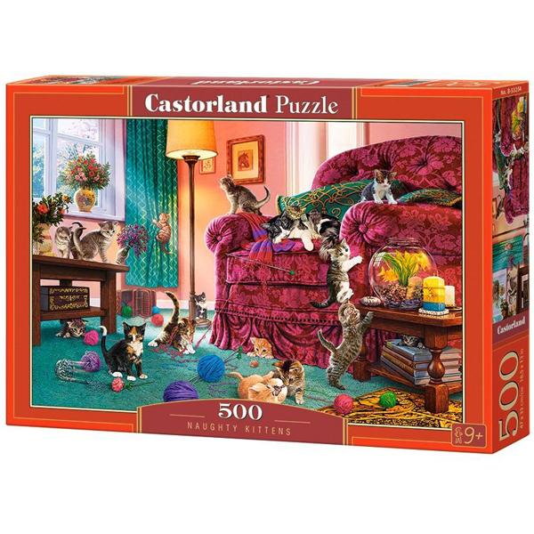 Castorland puzzla 500 Pcs Naughty Kittens 53254 - ODDO igračke
