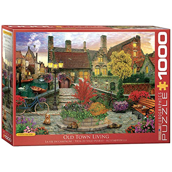 Eurographics Old Town Living by David Mclean 1000-Piece Puzzle 6000-5531 - ODDO igračke