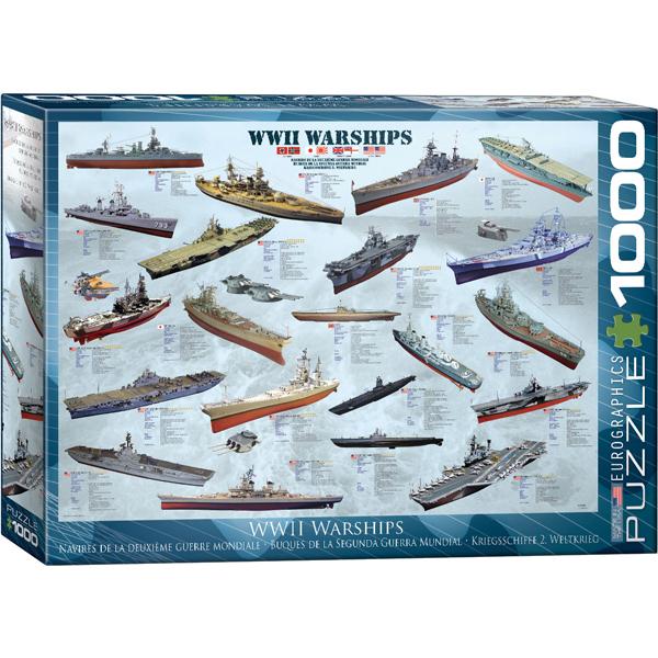 Eurographics WW II Warships 1000-Piece Puzzle 6000-0133 - ODDO igračke