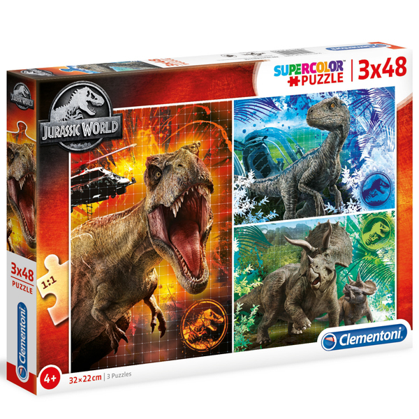 Clementoni puzzla 3x48 pcs Jurassic World 25250 - ODDO igračke