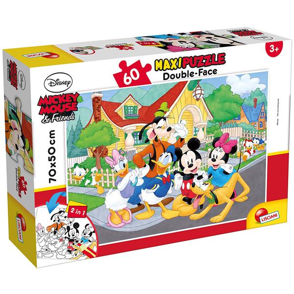 Slagalica Lisciani 60pcs Maxi Disney Mickey 2u1 složi i oboji 66728 - ODDO igračke