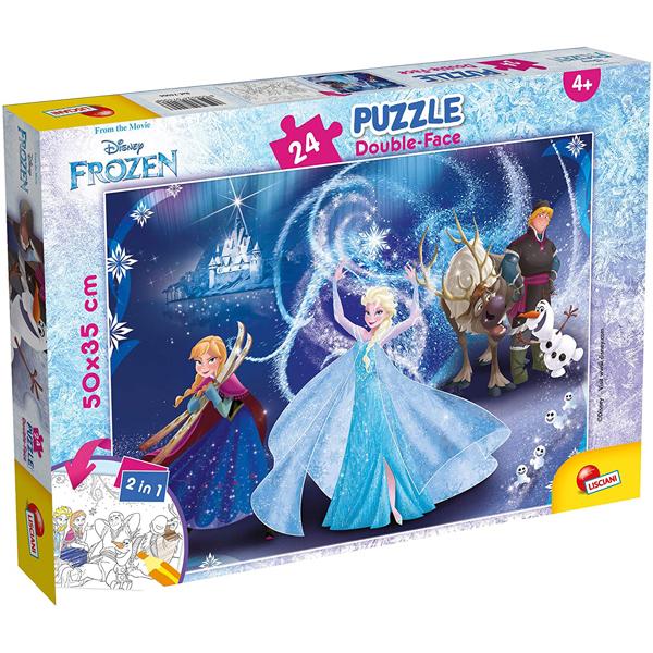 Slagalica Lisciani 24pcs Frozen 2u1 složi i oboji 74006 - ODDO igračke