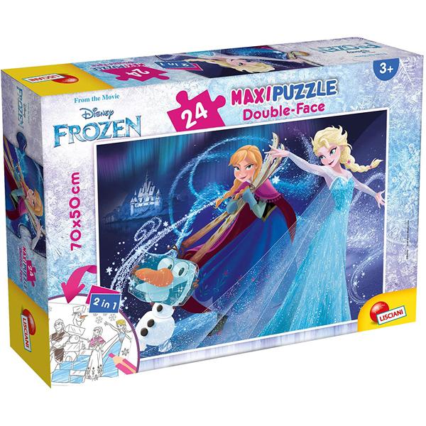 Slagalica Lisciani 24pcs Maxi Frozen 2u1 složi i oboji 74075 - ODDO igračke