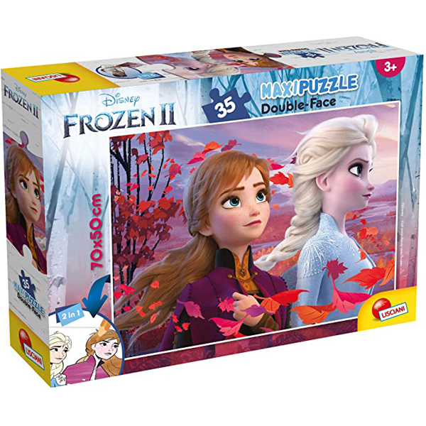 Slagalica Lisciani 35pcs Maxi Frozen 2u1 složi I oboji 82155 - ODDO igračke