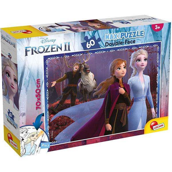 Slagalica Lisciani 60pcs Maxi Frozen II 2u1 složi i oboji 82162 - ODDO igračke