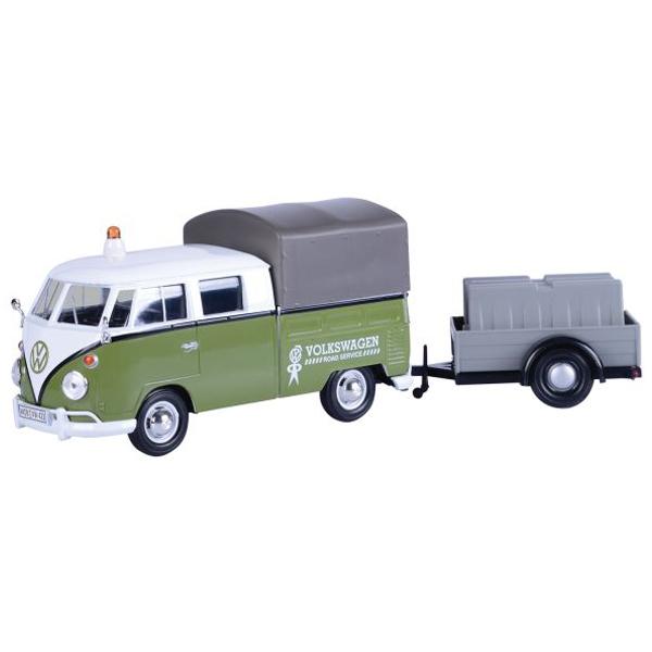 Metalni autić Motor Max 1:24 Volkswagen Trailer set - Pickup 25/79676 - ODDO igračke