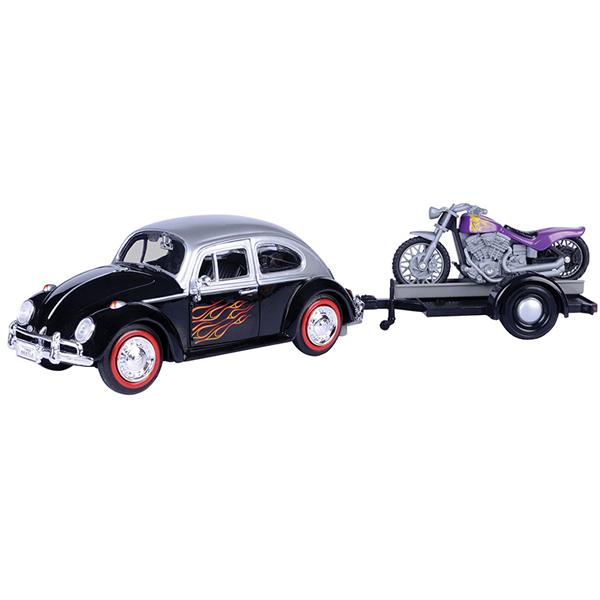 Metalni autić Motor Max 1:24 Volkswagen Motorible Trailer 25/79675 - ODDO igračke