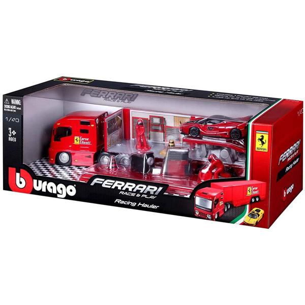 Burago Ferrari Racing Hauler kamion set BU31202 - ODDO igračke