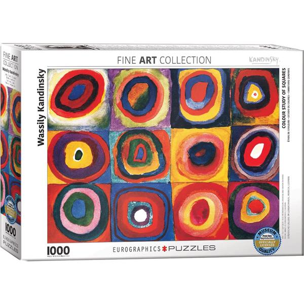 Eurographics Wassily Kandinsky Colour Study of Squares 1000-Piece Puzzle 6000-1323  - ODDO igračke