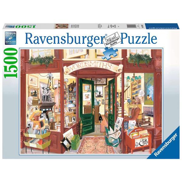 Ravensburger puzzle(slagalice) - 1500 pcs Wordsmiths Bookshop RA16821 - ODDO igračke
