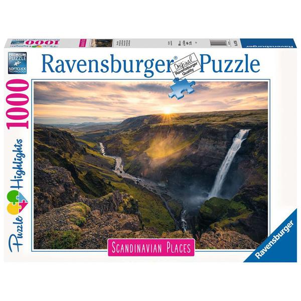 Ravensburger puzzle (slagalice) 1000pcs Scandinavian Places - Haifoss Waterfall, Iceland RA16738 - ODDO igračke