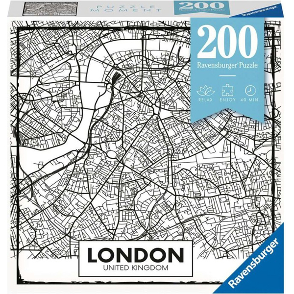 Ravensburger puzzle (slagalice) 200pcs Mapa Londona RA12963 - ODDO igračke