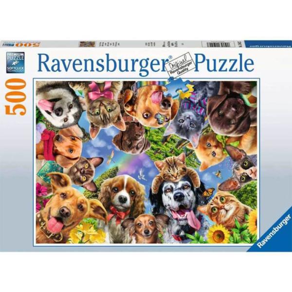 Ravensburger puzzle (slagalice) 500pcs Životinjski selfi RA15042 - ODDO igračke