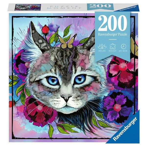 Ravensburger puzzle (slagalice) 200pcs Mačka u bojama RA12960 - ODDO igračke