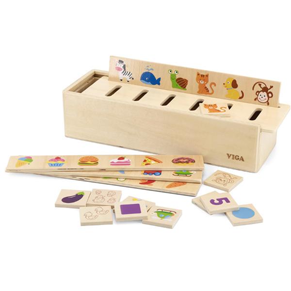 Viga Drveni eduko set za sortiranje 44503 - ODDO igračke