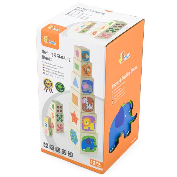 VIGA-Drvena kula  Kocka u kocki 50392 - ODDO igračke