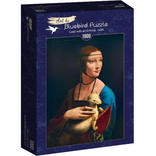 Bluebird puzzle 1000 pcs Leonardo Da Vinci - Lady with an Ermine 60012 - ODDO igračke