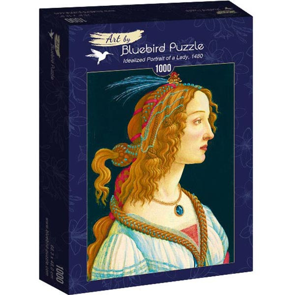 Bluebird puzzle 1000 pcs - Sandro Botticelli - Idealized Portrait of a Lady 60023 - ODDO igračke