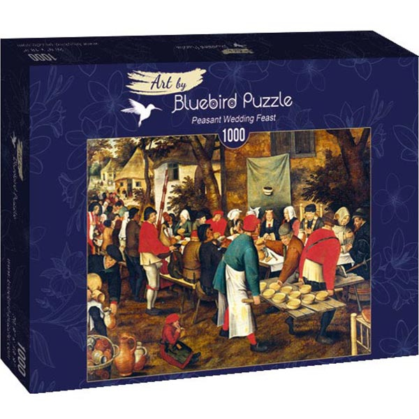 Bluebird puzzle 1000 pcs - Pieter Brueghel the Younger - Peasant Wedding Feast 60025 - ODDO igračke