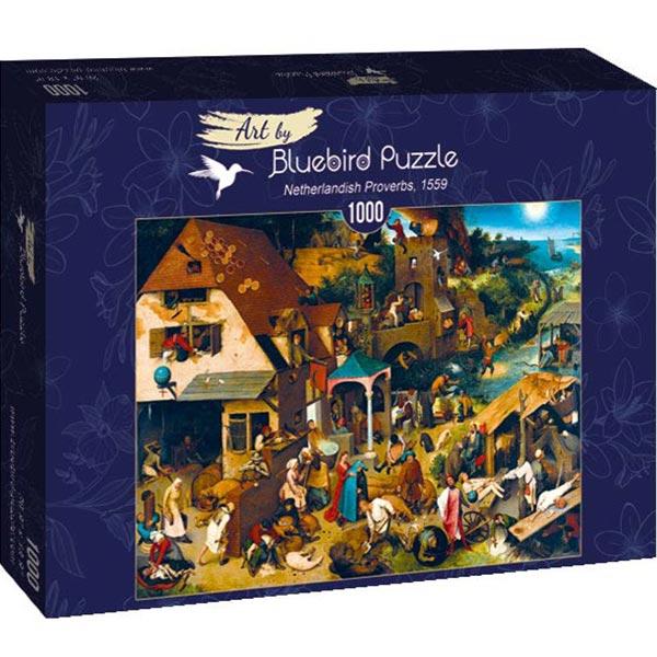 Bluebird puzzle 1000 pcs Pieter Bruegel the Elder - Netherlandish Proverbs 60028 - ODDO igračke