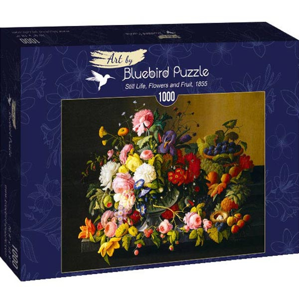 Bluebird puzzle 1000 pcs Severin Roesen - Still Life, Flowers and Fruit 60030 - ODDO igračke
