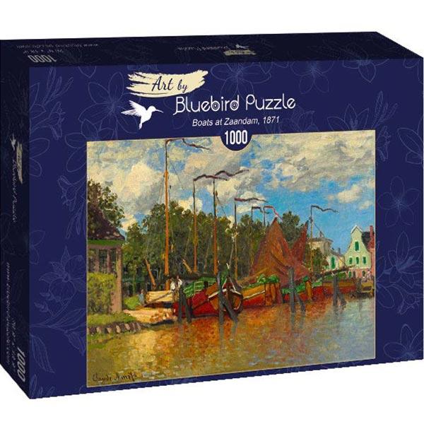 Bluebird puzzle 1000 pcs Claude Monet - Boats at Zaandam 60031 - ODDO igračke