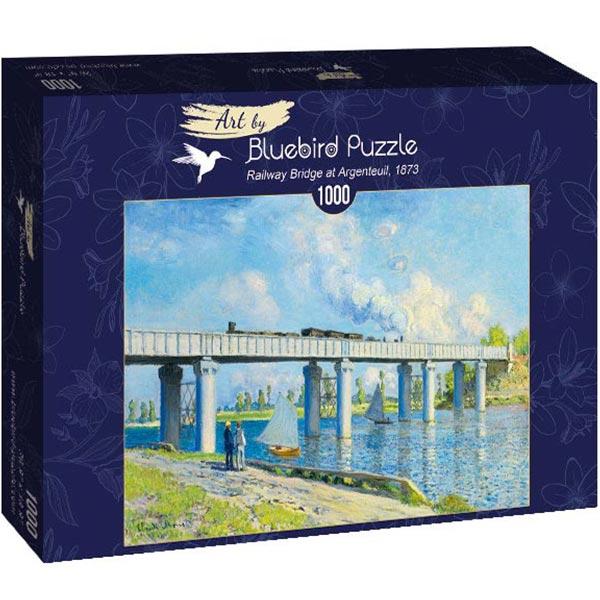 Bluebird puzzle 1000 pcs Claude Monet -Railway Bridge at Argenteuil 60038 - ODDO igračke