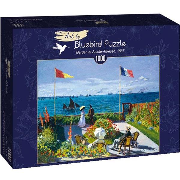 Bluebird puzzle 1000 pcs Claude Monet - Garden at Sainte-Adresse 60042 - ODDO igračke