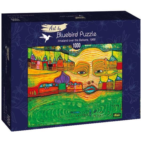 Bluebird puzzle 1000 pcs Hundertwasser - Irinaland over the Balkans 60063 - ODDO igračke
