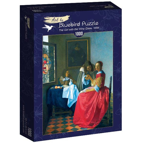 Bluebird puzzle 1000 pcs Johannes Vermeer- The Girl with the Wine Glass 60067 - ODDO igračke