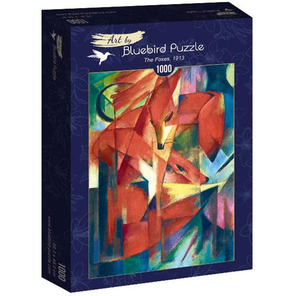 Bluebird puzzle 1000 pcs Franz Marc - The Foxes 60068 - ODDO igračke