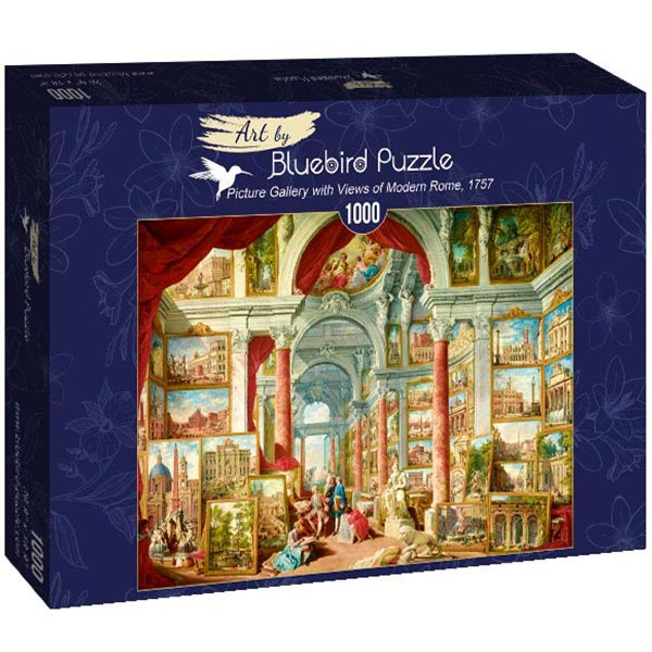 Bluebird puzzle 1000 pcs Panini - Picture Gallery with Views of Modern Rome 60075 - ODDO igračke
