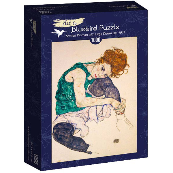 Bluebird puzzle 1000 pcs Egon Schiele - Seated Woman with Legs Drawn Up, 1917 60092  - ODDO igračke
