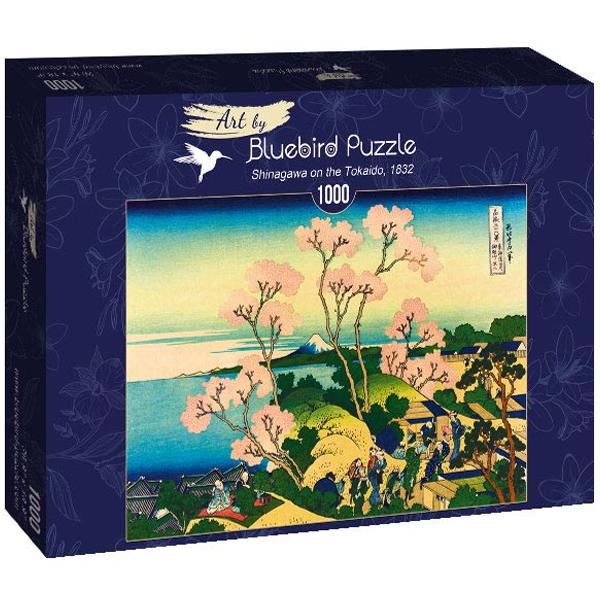 Bluebird puzzle 1000 pcs Katsushika Hokusai - Shinagawa on the Tokaido, 1832 60093 - ODDO igračke