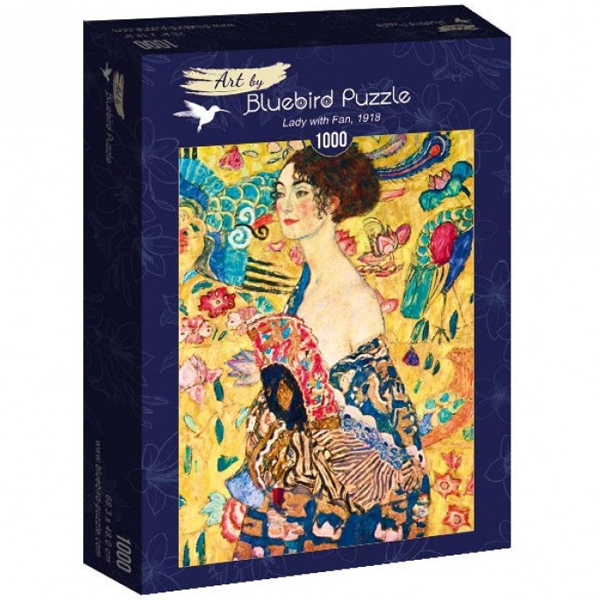 Bluebird puzzle 1000 pcs Gustave Klimt - Lady with Fan, 1918 60095 - ODDO igračke