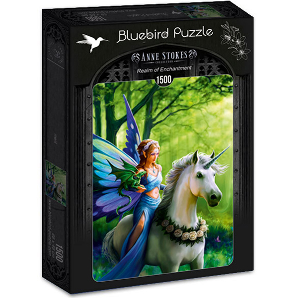 Bluebird puzzle 1500 pcs Anne Stokes - Realm of Enchantment 70440 - ODDO igračke