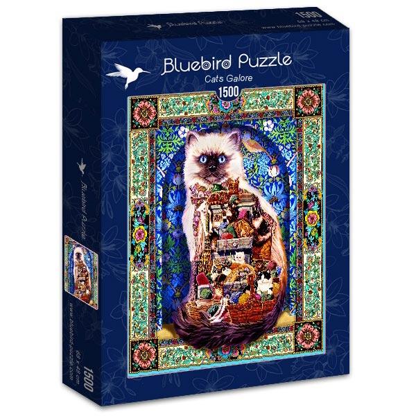 Bluebird puzzle 1500 pcs Cats Galore 70154 - ODDO igračke