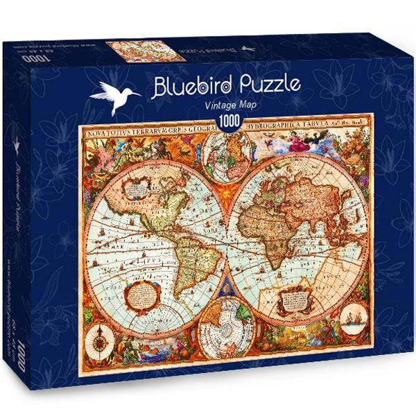 Bluebird puzzle 1000 pcs Aimee Stewart Vintage Map 70329-P - ODDO igračke