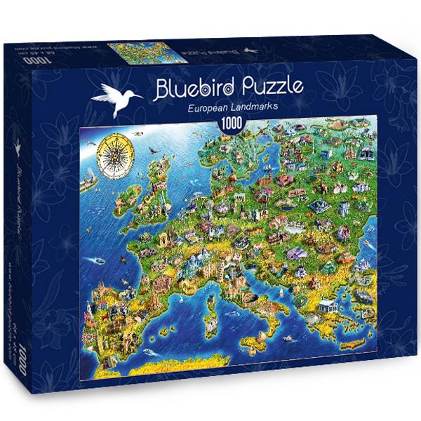 Bluebird puzzle 1000 pcs Adrian Chesterman European Landmarks 70322-P - ODDO igračke