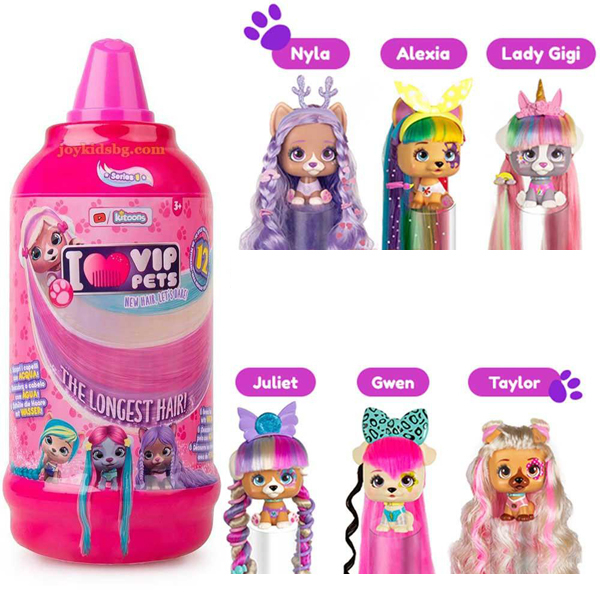 VIP Pets Surprise Hair Reveal Doll asst cdu IM711709 - ODDO igračke