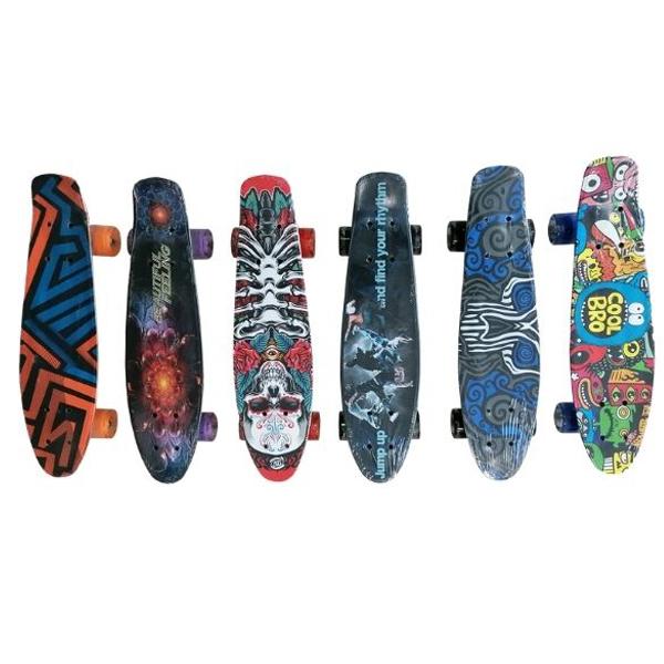 Skateboard sa svetlećim točkovima 56cm 11/2206 - ODDO igračke