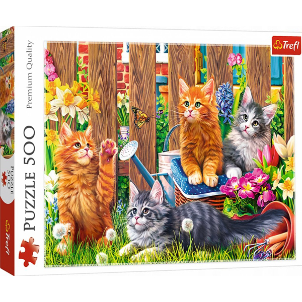 Trefl Puzzla 500 pcs Cats in the Garden 37326 - ODDO igračke