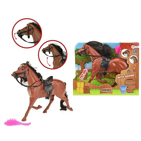 Konj sa zvukom i četkom 15cm 06071A - ODDO igračke