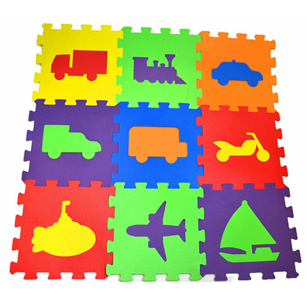 Podna Eva puzzle vozila 9 delova 003052 - ODDO igračke